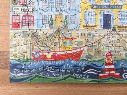 Hannah Dunnett The Way The Truth and The Life Jigsaw left hand corner close up image