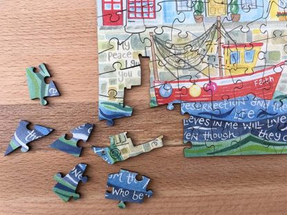 Hannah Dunnett The Way The Truth and The Life Jigsaw pieces close up image