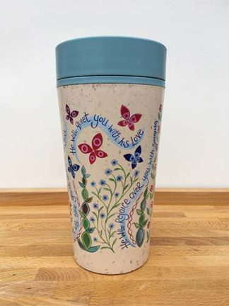 Hannah Dunnett reusable mug back view