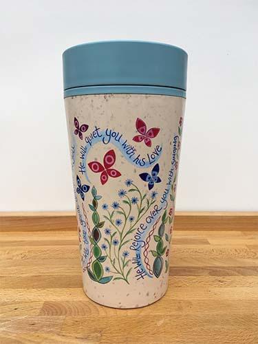 Hannah Dunnett reusable mug back view
