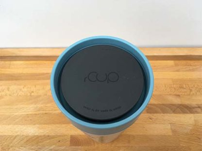 Hannah Dunnett reusable mug lid closeup