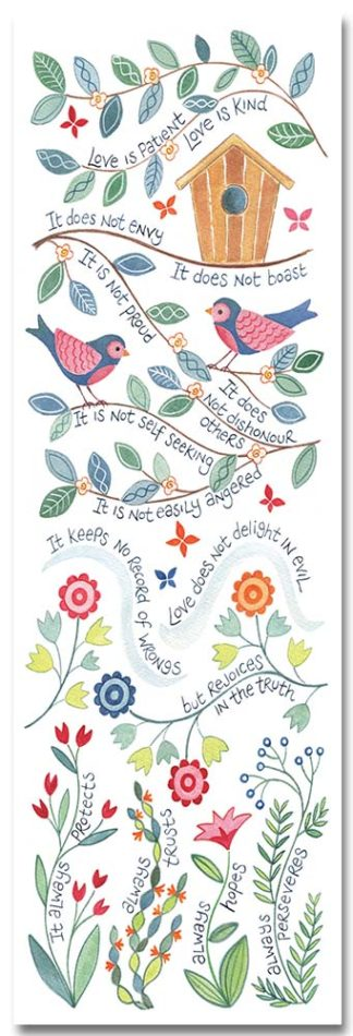 Hannah Dunnett Love is Patient bookmark front image