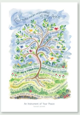 Hannah Dunnett An Instrument of Your Peace greetings card and poster