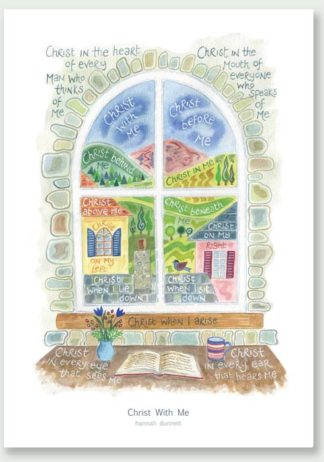 Hannah Dunnett Christ With Me greetings card and poster