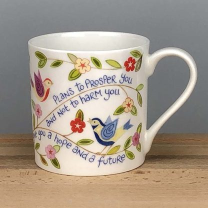 Hannah Dunnett Hope and a Future China Mug close up back