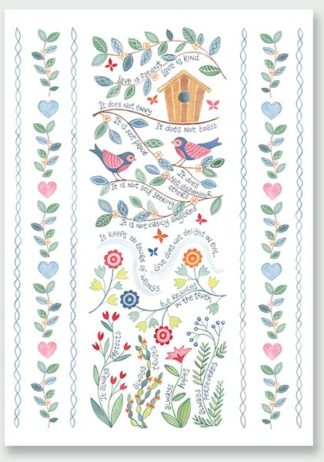 Hannah Dunnett Love is Patient greetings card