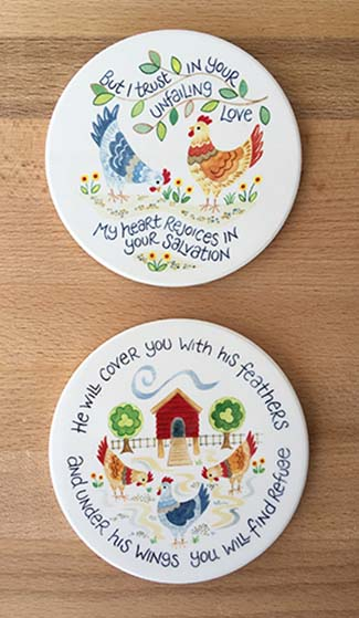 Hannah Dunnett Unfailing Love and Under His Wings Coaster image