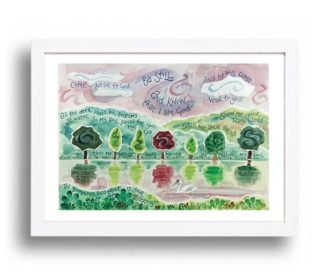 Hannah Dunnett Be Still A4 poster white framed