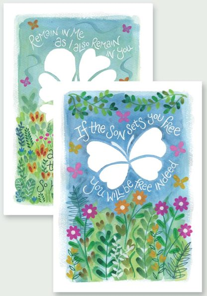 Hannah Dunnett Free Indeed and Remain in Me Notecards