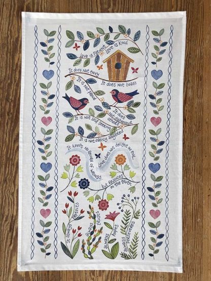Hannah Dunnett Love is Patient Tea Towel