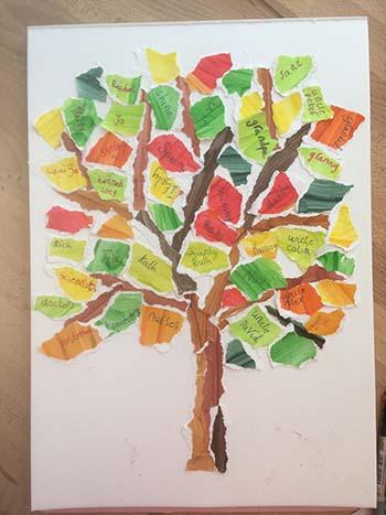Hannah Dunnett Prayer Tree Collage design