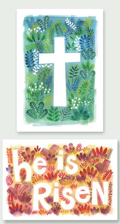 Hannah Dunnett The Cross and He is Risen Notecards
