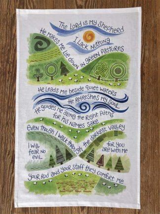 Hannah Dunnett The Lord is My Shepherd Tea Towel