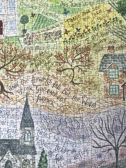 Hannah Dunnett Times and Seasons Jigsaw 1000 pieces close up image