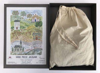 Hannah Dunnett Times and Seasons Jigsaw with box and bag