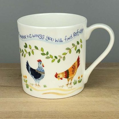 Hannah Dunnett Under His Wings China Mug close up back