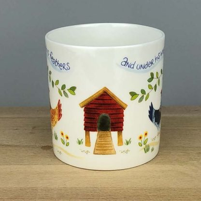 Hannah Dunnett Under His Wings China Mug close up middle section