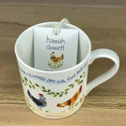 Hannah Dunnett Under His Wings China Mug close up top