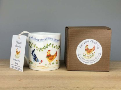 Hannah Dunnett Under His Wings China Mug with gift box