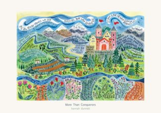 Hannah Dunnett More Than Conquerors greetings card and poster