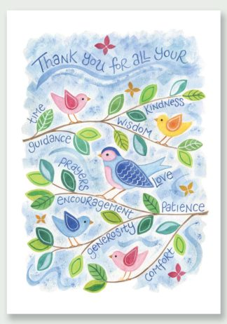 Hannah Dunnett Thank You Birds design Notecard