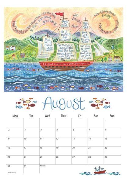 Hannah Dunnett 2021 Calendar August