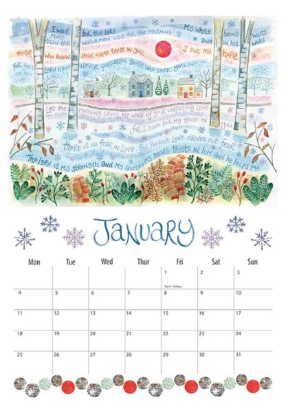 Hannah Dunnett 2021 Calendar January