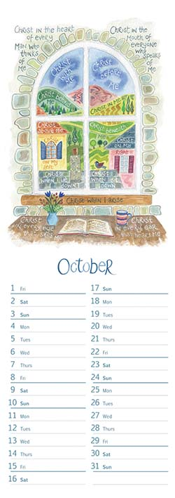 Hannah Dunnett 2021 Slimline Calendar October