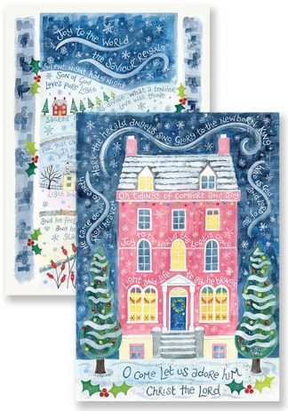 Hannah Dunnett Comfort and Joy and Light and Life Christmas card pack