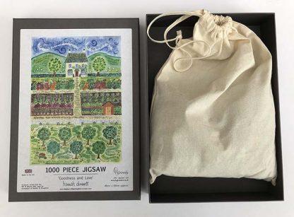 Hannah Dunnett Goodness and Love Jigsaw box and bag image