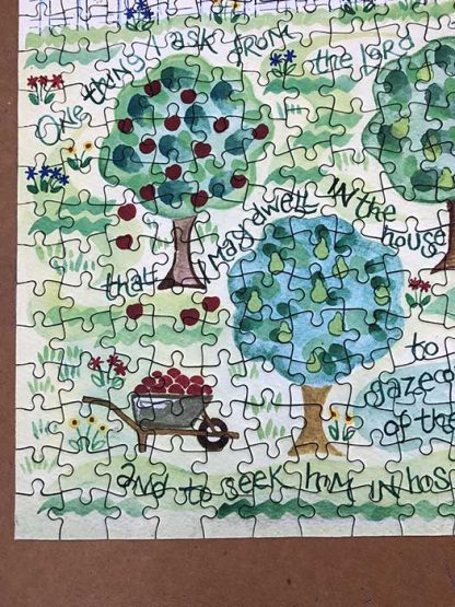 Hannah Dunnett Goodness and Love corner close up Jigsaw image