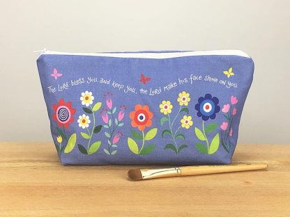 Hannah Dunnett Bless You and Keep You Cosmetic Bag with brush