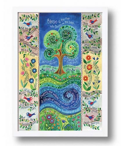Hannah Dunnett Living Water A3 Poster white frame