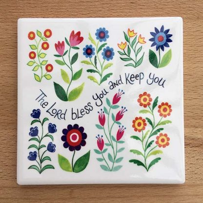 Hannah Dunnett Bless You and Keep You Coaster image