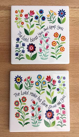 Hannah Dunnett Bless You and Keep You and Shine on You Coaster image