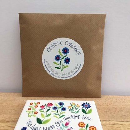 Hannah Dunnett Bless You and Keep You and Shine on You coasters envelope