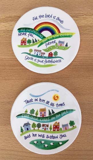 Hannah Dunnett His Compassions and Trust in Him Coaster image