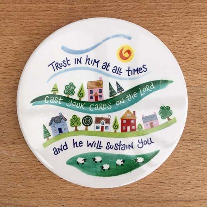 Hannah Dunnett Trust in Him Coaster image