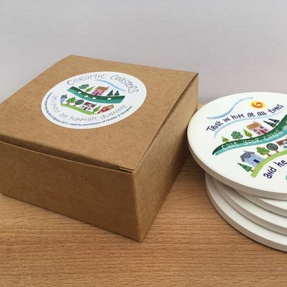Hannah Dunnett Trust in Him coasters gift box image