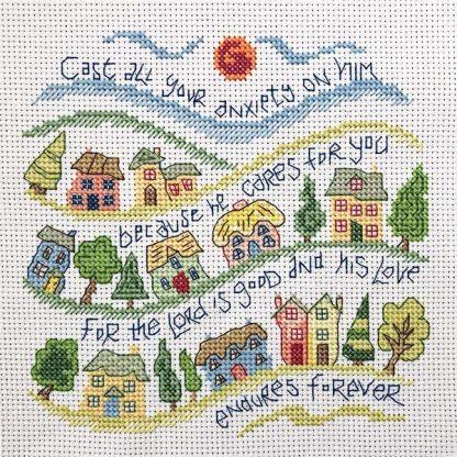 Hannah Dunnett He Cares For You Cross Stitch Kit