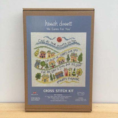 Hannah Dunnett He Cares For You Cross Stitch Kit box image