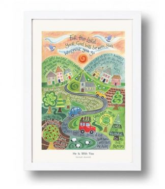 Hannah Dunnett He is With You A4 poster white framed