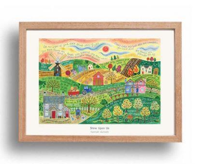 Hannah Dunnett Shine Upon Us Poster oak frame