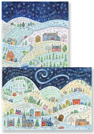 Hannah Dunnett A Light Has Dawned and Glory To God in The Highest Christmas card pack