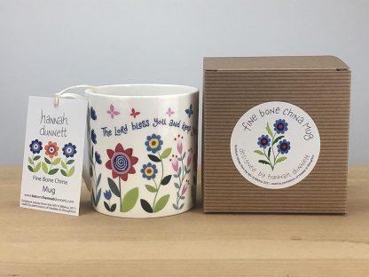 Hannah Dunnett Bless You and Keep You China Mug with gift box