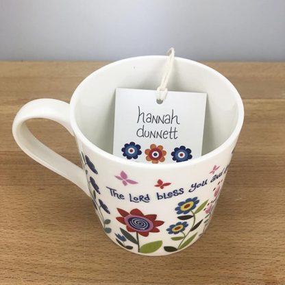Hannah Dunnett Bless You and Keep You Mug close up top