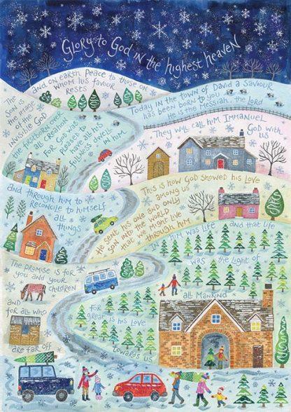 Hannah Dunnett Glory to God in the Highest Christmas Card