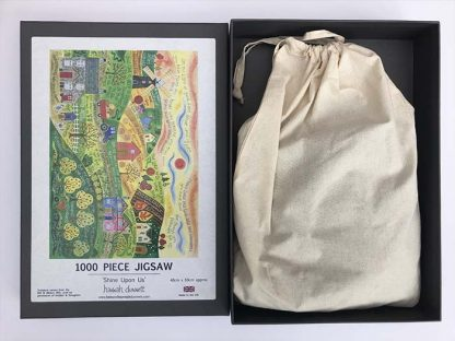 Hannah Dunnett Shine Upon Us Jigsaw with box and bag